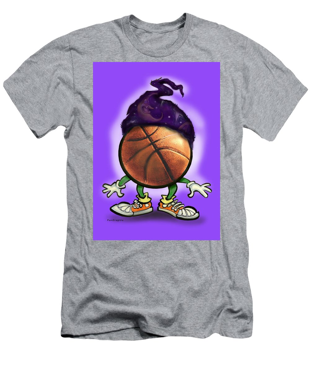 Basketball Men's T-Shirt (Athletic Fit) featuring the greeting card Basketball Wizard by Kevin Middleton