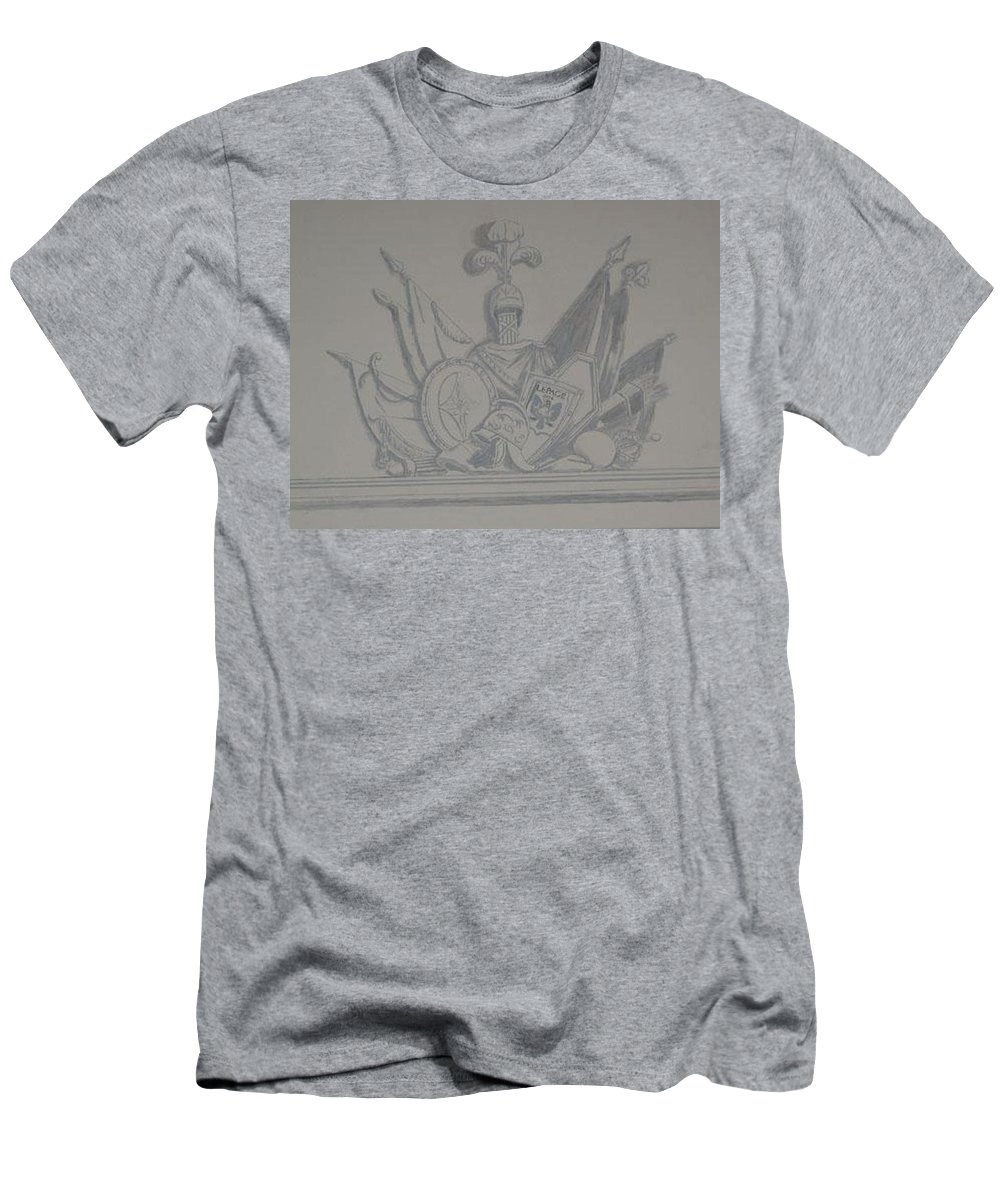 Armor Men's T-Shirt (Athletic Fit) featuring the painting Battle Flags by Richard Le Page