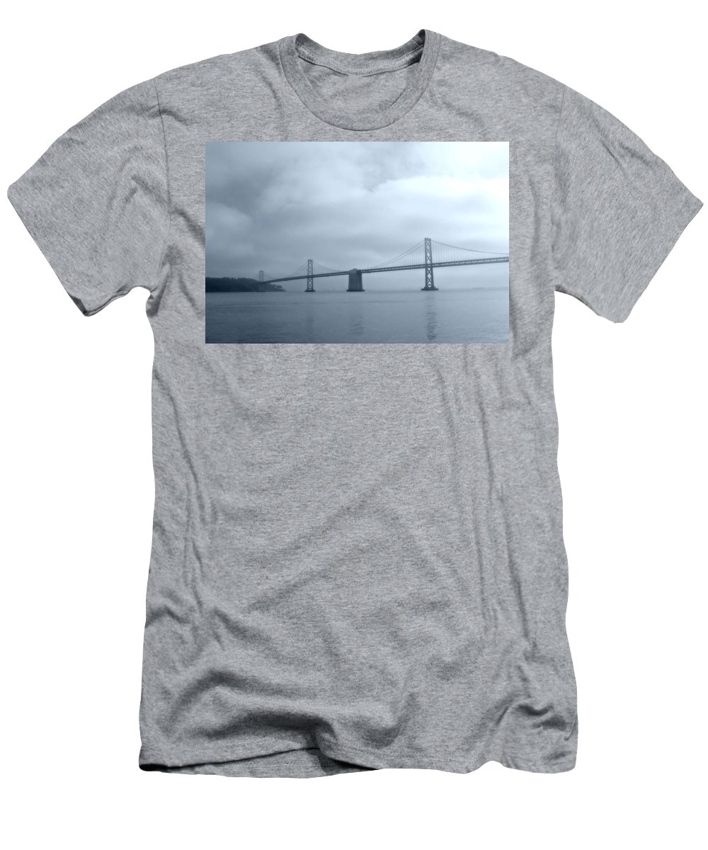 Bay Men's T-Shirt (Athletic Fit) featuring the photograph Bay Bridge by Tom Reynen