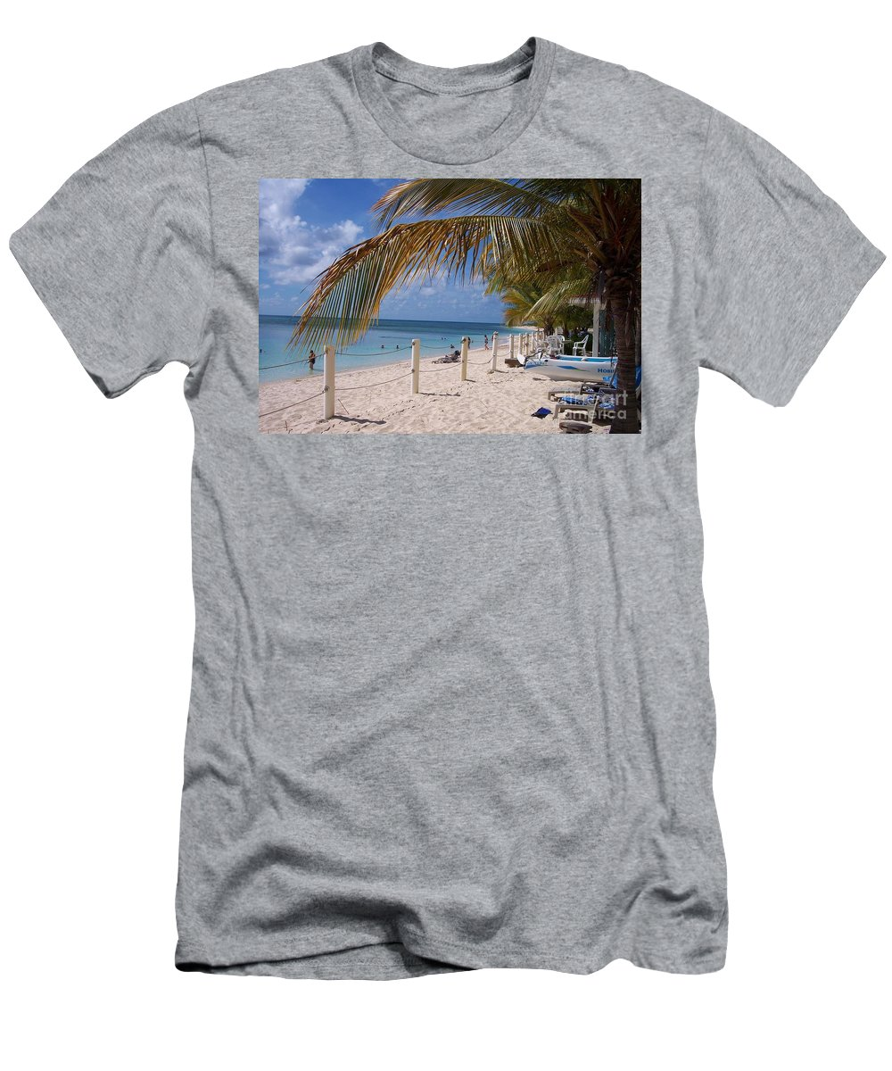 Beach Men's T-Shirt (Athletic Fit) featuring the photograph Beach Grand Turk by Debbi Granruth