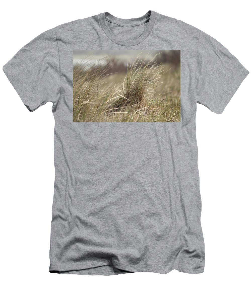 Nature Men's T-Shirt (Athletic Fit) featuring the photograph Beach Gras by Heike Hultsch