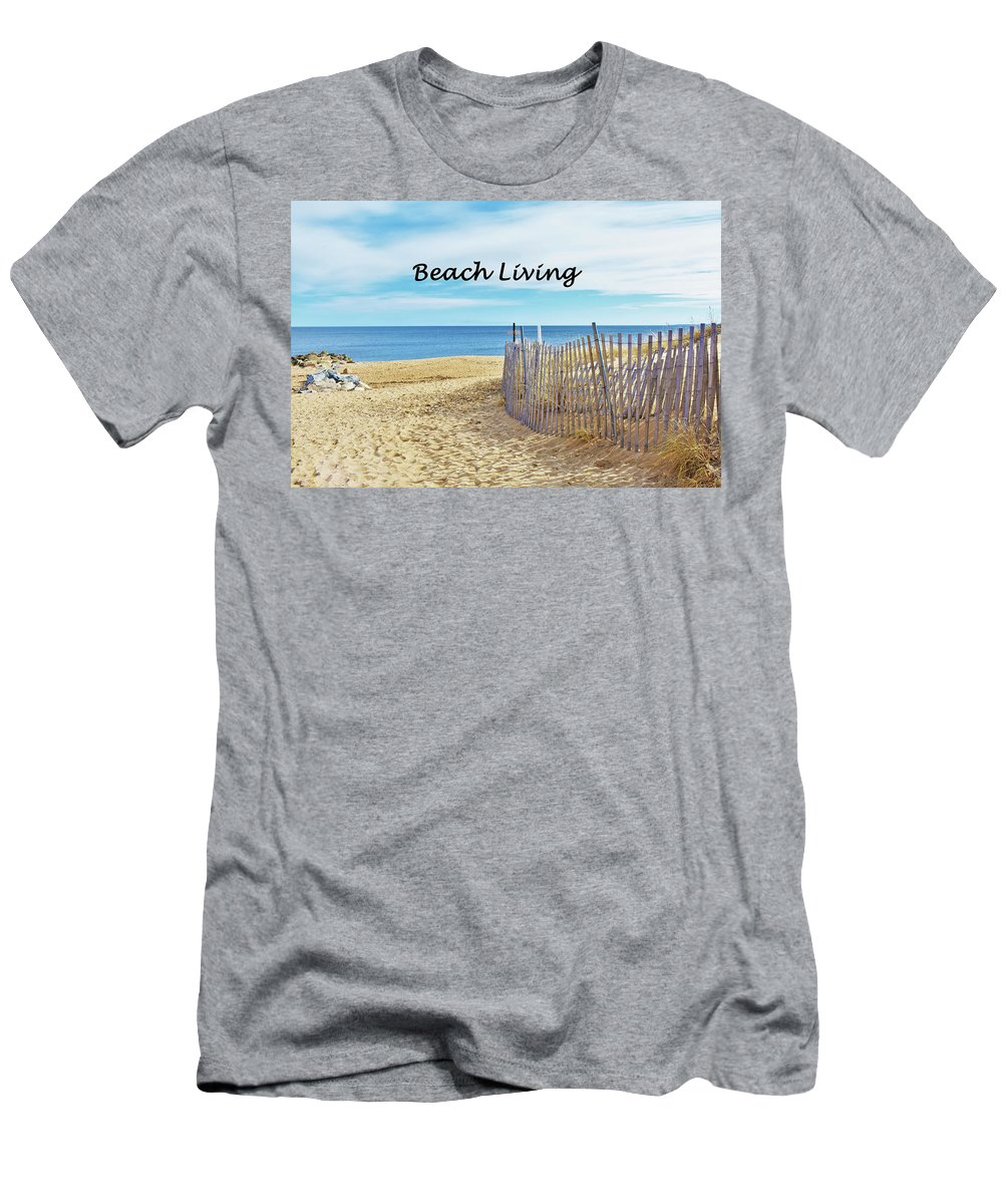 Beach Men's T-Shirt (Athletic Fit) featuring the photograph Beach Living by C Sev Photography