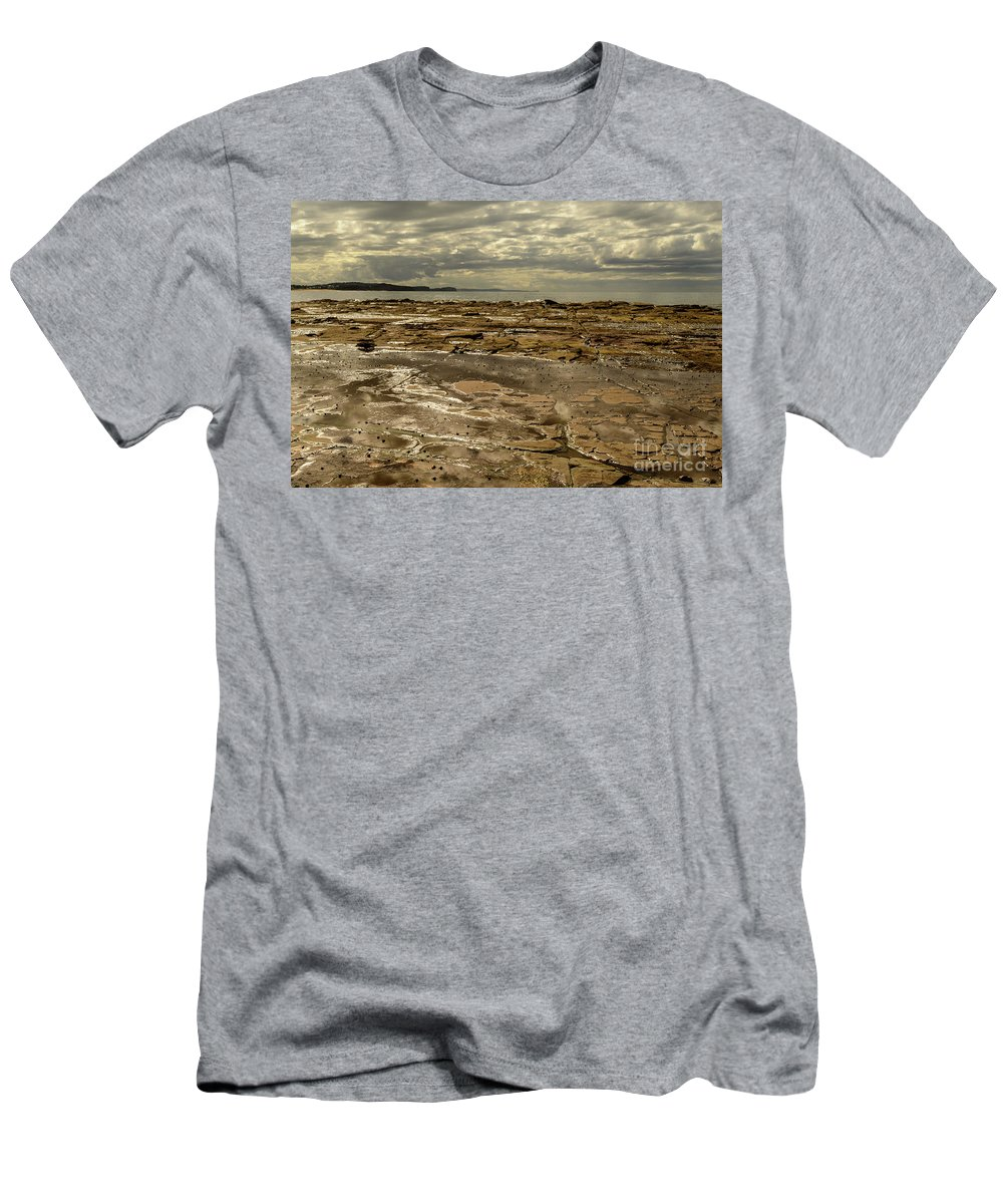 Landscape Men's T-Shirt (Athletic Fit) featuring the photograph Beach Syd02 by Werner Padarin