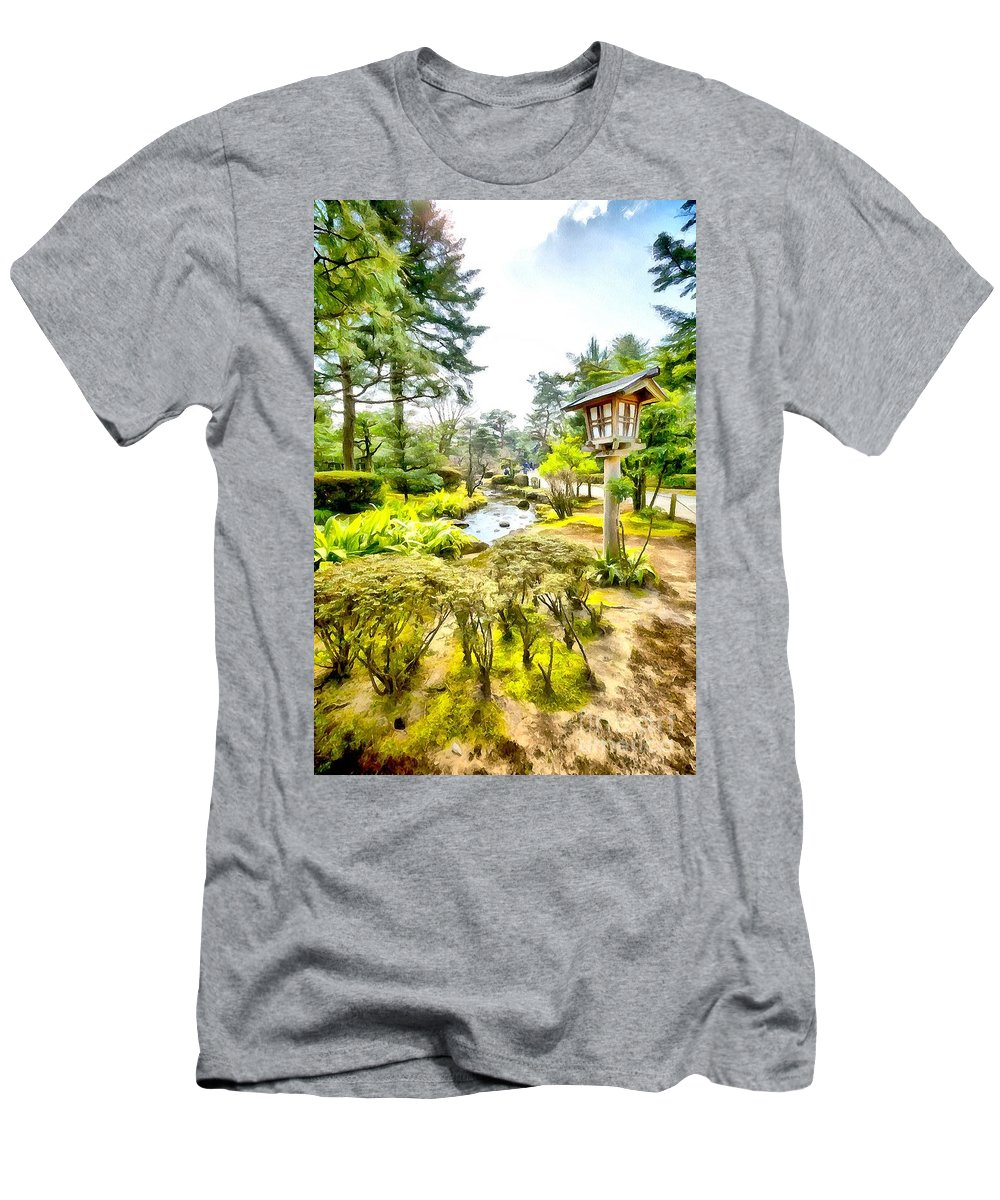 Kenrokuen Garden Men's T-Shirt (Athletic Fit) featuring the photograph Beautiful Kenrokuen by Eva Lechner