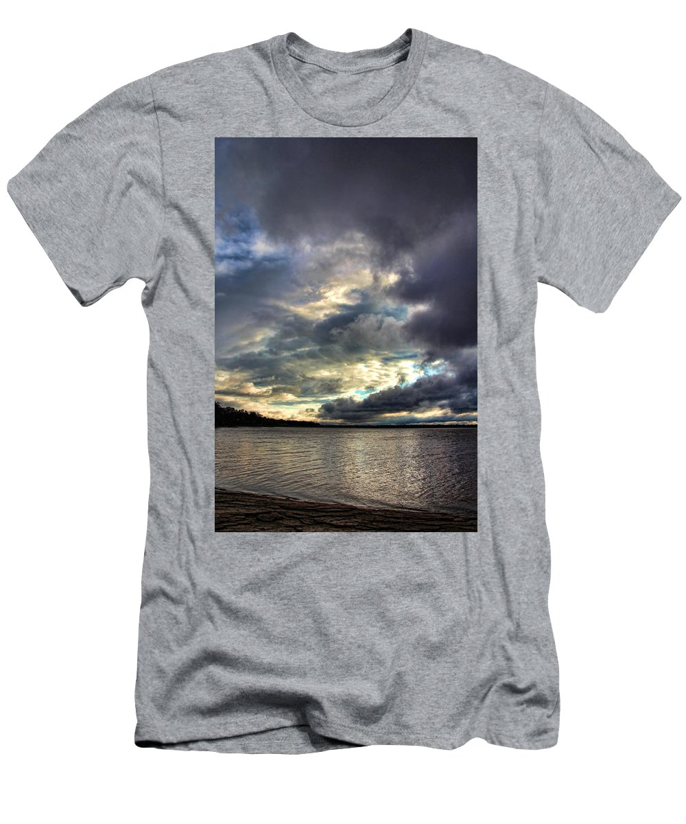 Sunset Men's T-Shirt (Athletic Fit) featuring the photograph Beautiful Oklahoma Skies by Carolyn Fletcher
