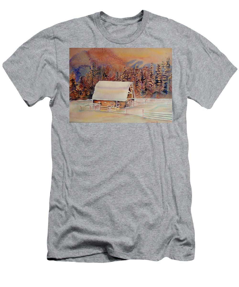 Beautiful Skies Men's T-Shirt (Athletic Fit) featuring the painting Beautiful Skies by Carole Spandau