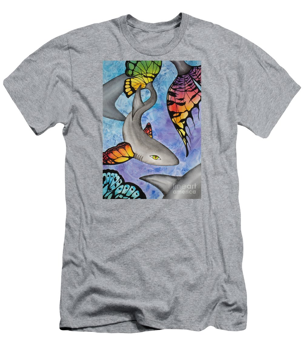 Surreal Men's T-Shirt (Slim Fit) featuring the painting Beauty In The Beasts by Lucy Arnold