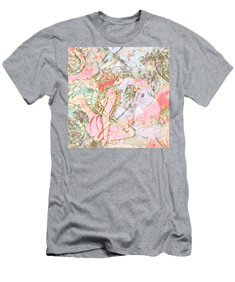 Pastel Men's T-Shirt (Athletic Fit) featuring the mixed media Beauty In The Meadow by Amelia Carrie