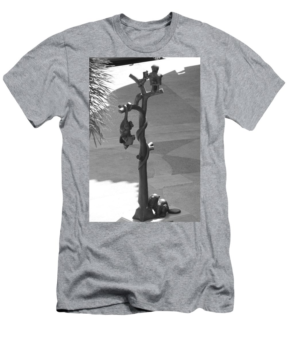 Black And White Men's T-Shirt (Athletic Fit) featuring the photograph Beavers Bats And Squirrels by Rob Hans