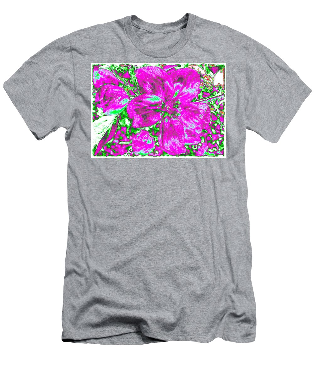 Bella Flora Men's T-Shirt (Athletic Fit) featuring the digital art Bella Flora 2 by Will Borden