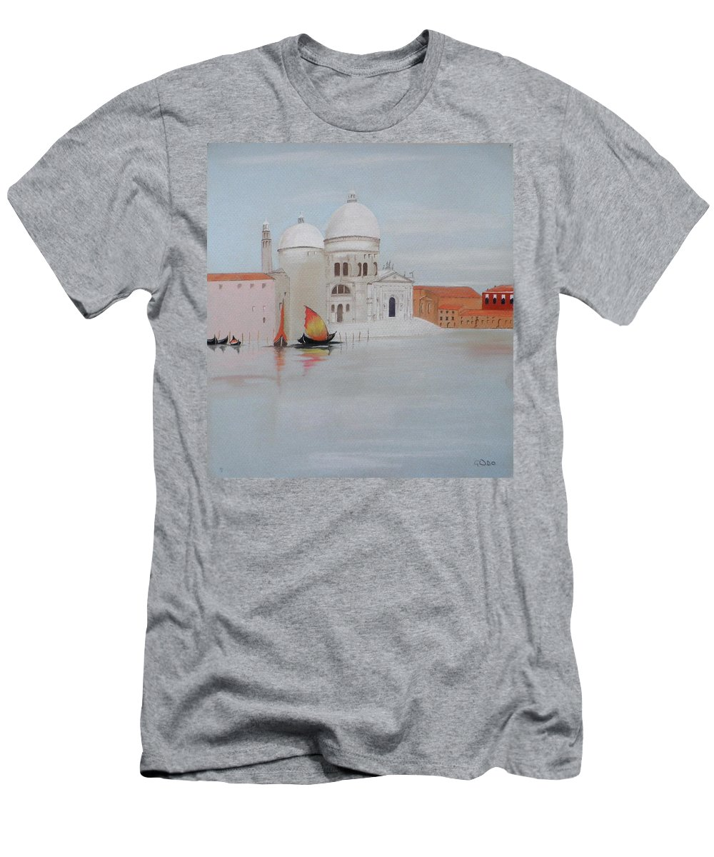 Venice Men's T-Shirt (Athletic Fit) featuring the pastel Bella Italia by Gordon Ogilvie