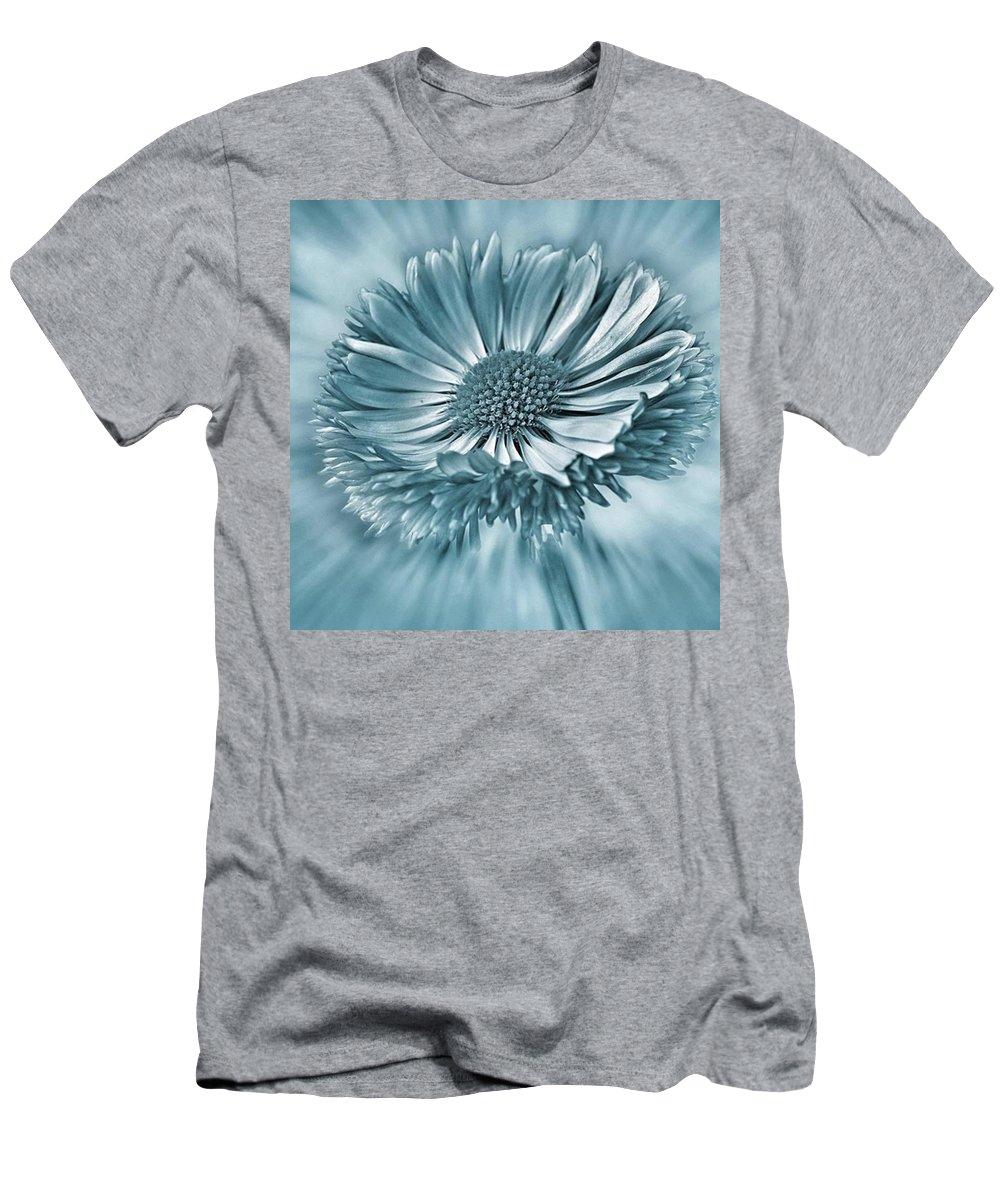 Beautiful T-Shirt featuring the photograph Bellis In Cyan  #flower #flowers by John Edwards
