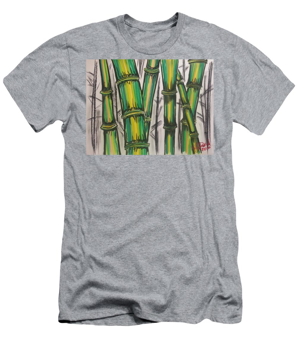 Bamboo Men's T-Shirt (Athletic Fit) featuring the pastel Bending Strength by Michael David
