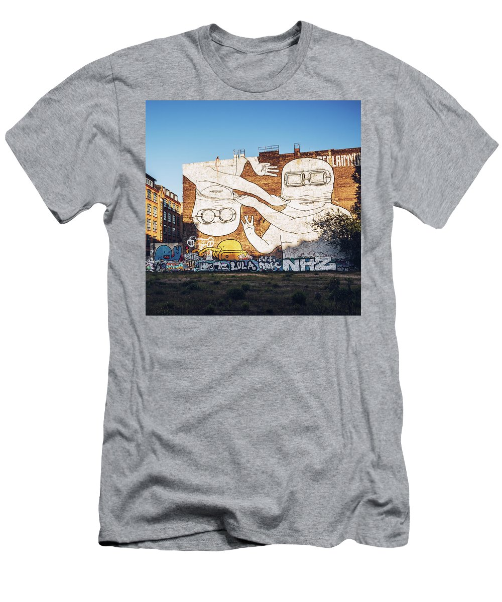 Berlin Men's T-Shirt (Athletic Fit) featuring the photograph Berlin - Street Art by Alexander Voss