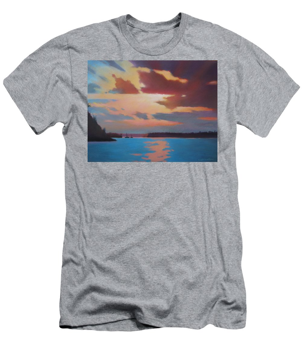 Bermuda Seascape Men's T-Shirt (Athletic Fit) featuring the painting Bermuda Sunset by Dianne Panarelli Miller