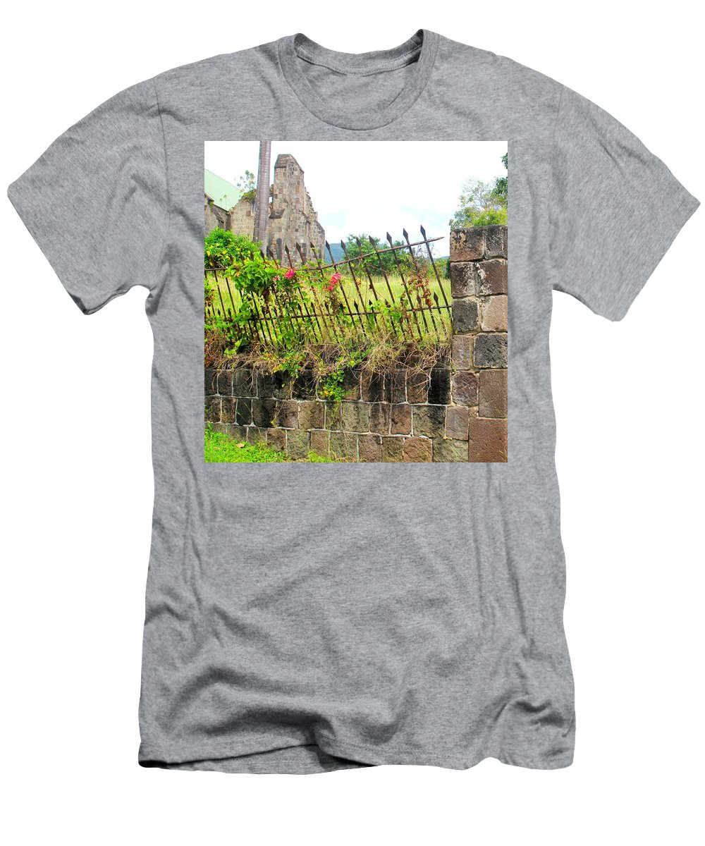 Church Men's T-Shirt (Athletic Fit) featuring the photograph Better Days by Ian MacDonald