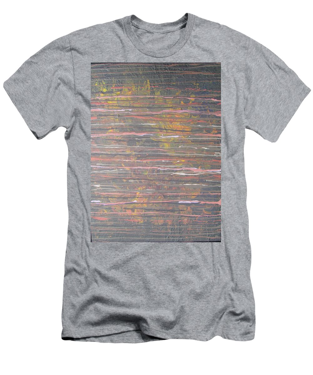 Lines Men's T-Shirt (Athletic Fit) featuring the painting Between The Lines by Jacqueline Athmann
