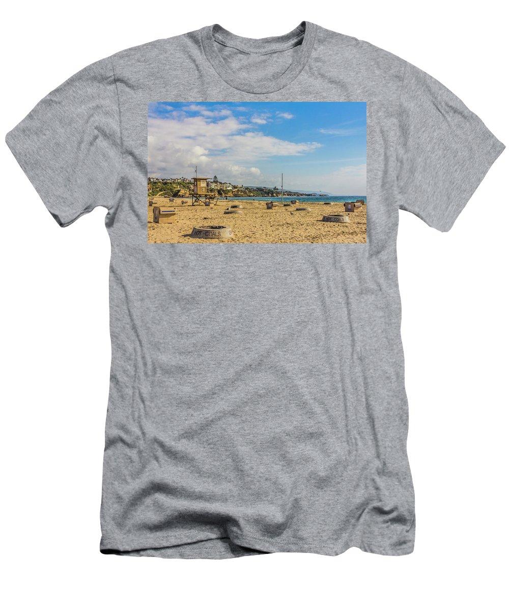2011 Men's T-Shirt (Athletic Fit) featuring the digital art Big Corona Beach by Amer Khwaja