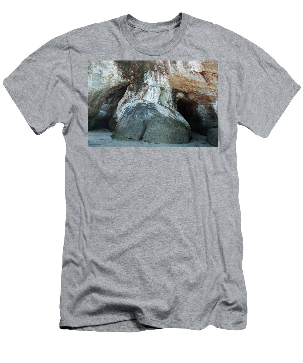 Grotto Men's T-Shirt (Athletic Fit) featuring the photograph Big Foot by Hany J