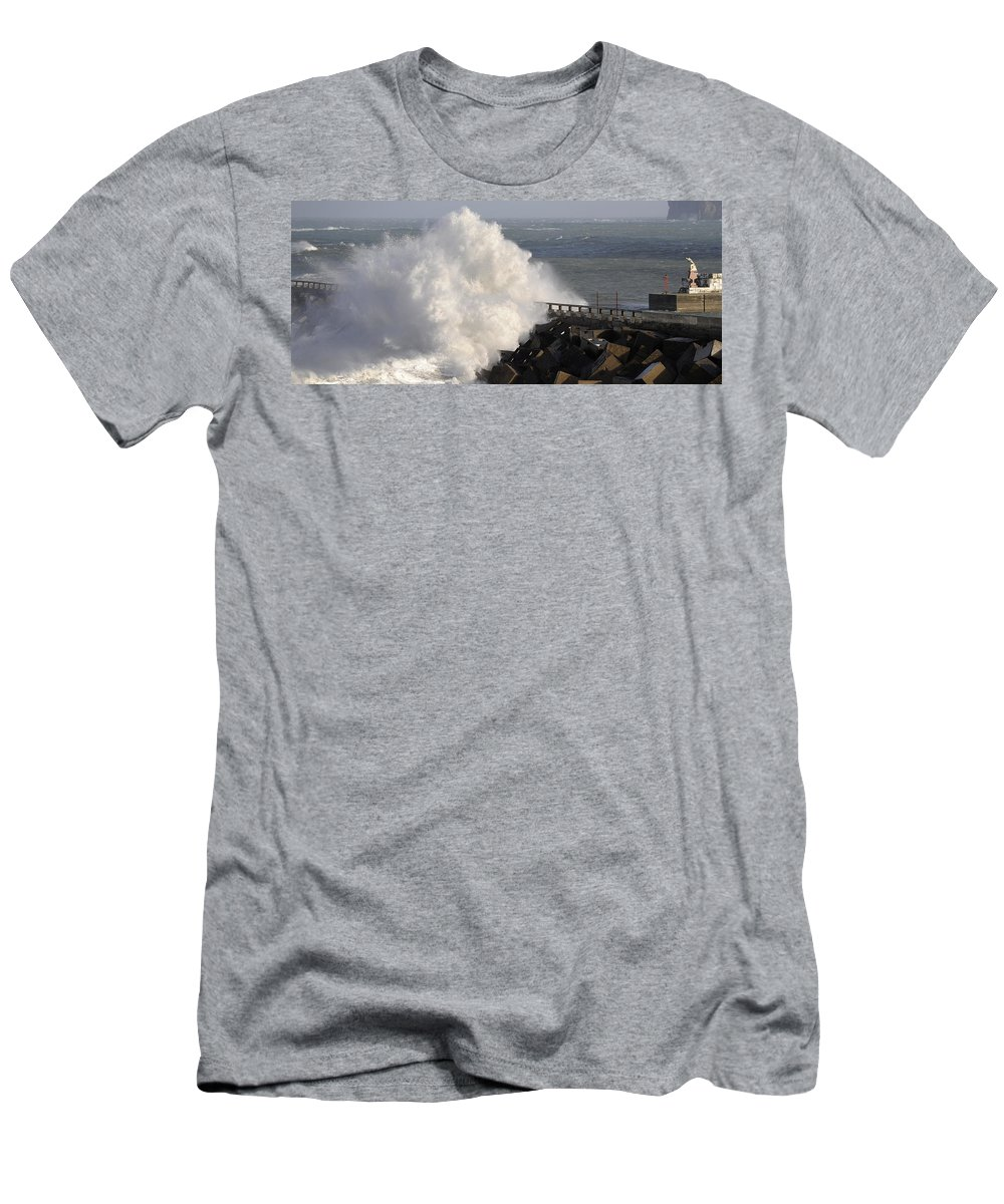 Spain Men's T-Shirt (Athletic Fit) featuring the photograph Big Wave by Rafa Rivas