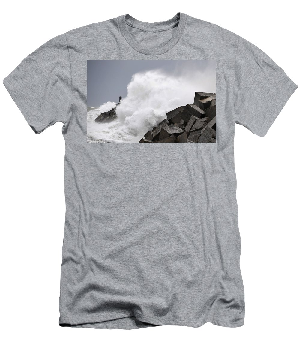 Spain Men's T-Shirt (Athletic Fit) featuring the photograph Big Waves II by Rafa Rivas