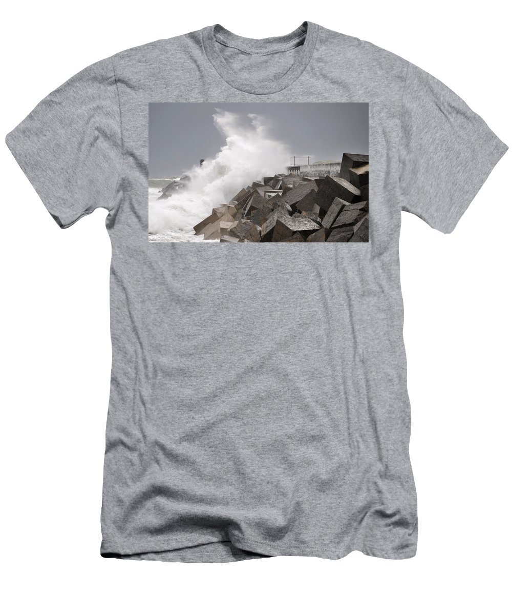 Spain Men's T-Shirt (Athletic Fit) featuring the photograph Big Waves IIi by Rafa Rivas
