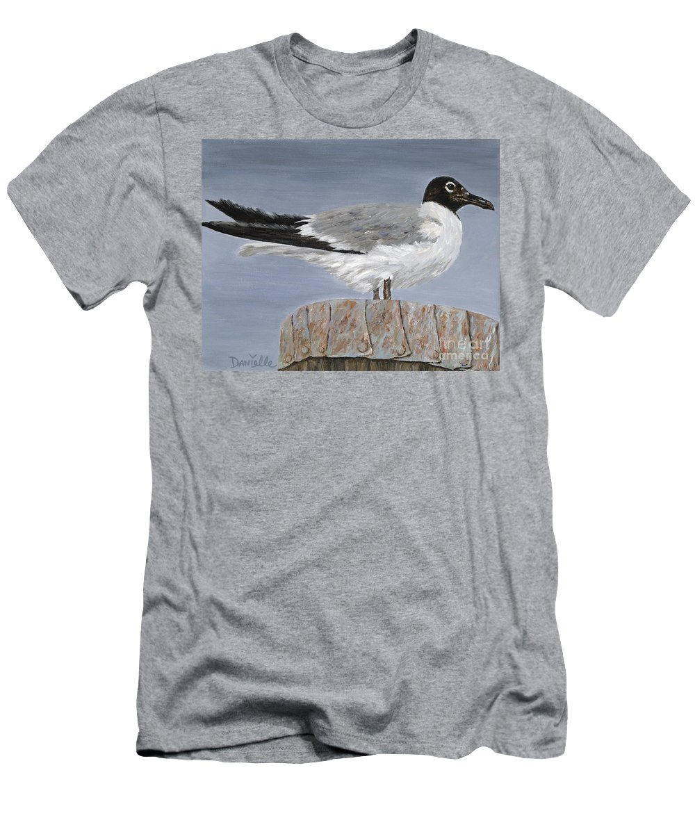 Seagull Men's T-Shirt (Athletic Fit) featuring the painting Bimini Gull by Danielle Perry