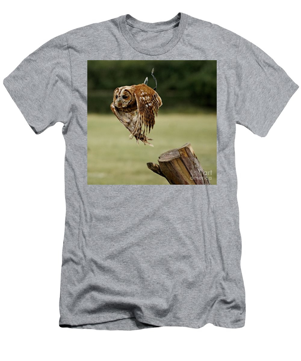 Bird Men's T-Shirt (Athletic Fit) featuring the photograph Birds 47 by Ben Yassa