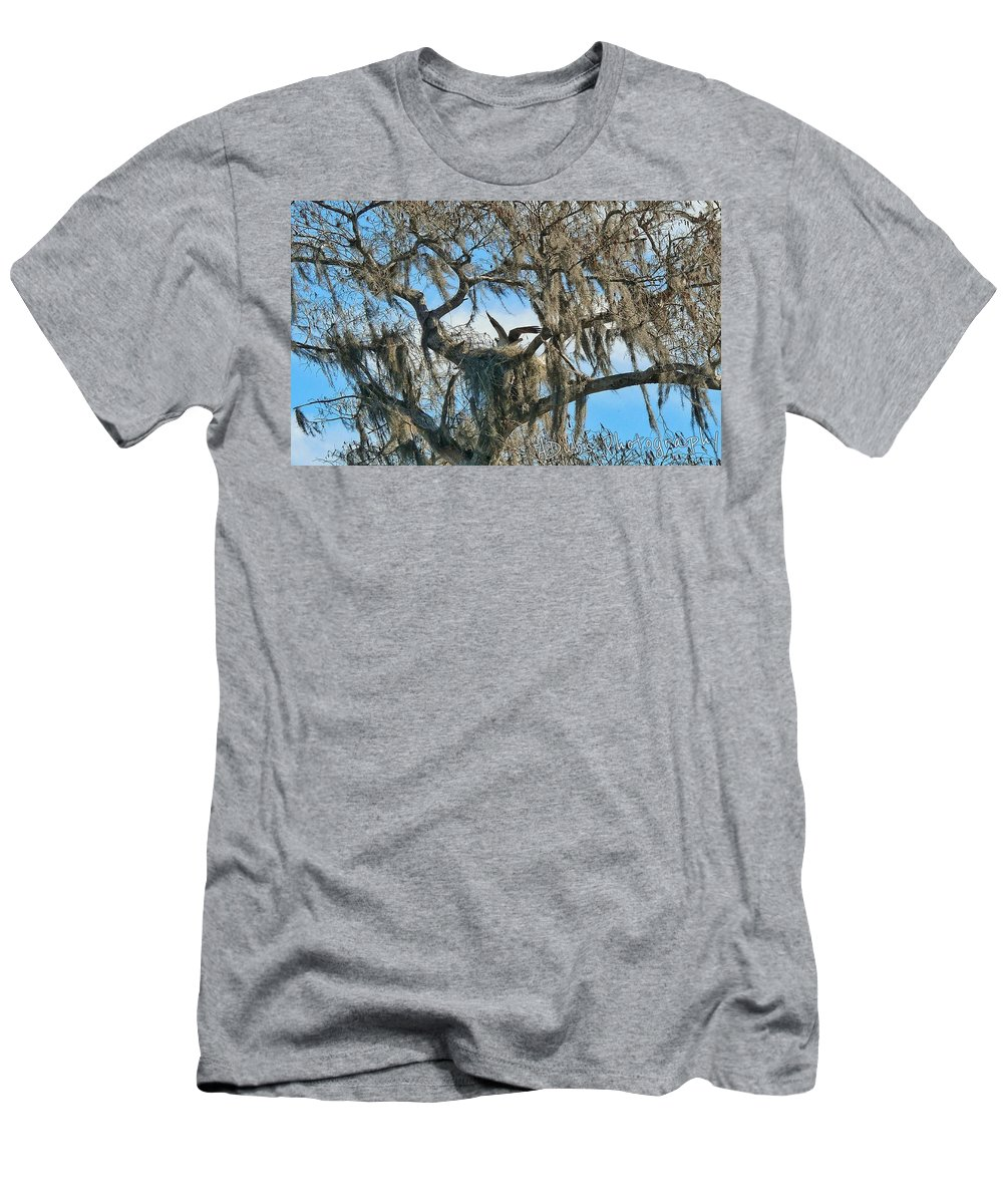 Nest Men's T-Shirt (Athletic Fit) featuring the photograph Birds Eye View by Allen Williamson