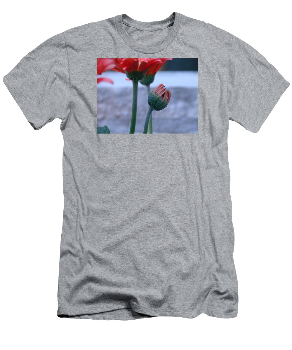 Flora Men's T-Shirt (Athletic Fit) featuring the photograph Birth Of A Flower by Mary Halpin
