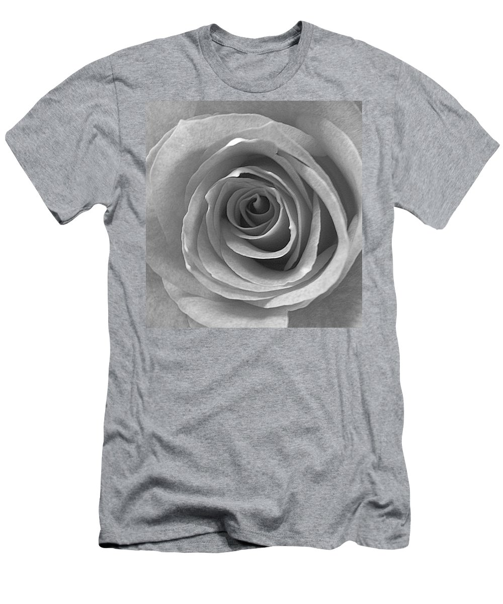 Rose Pedals Men's T-Shirt (Athletic Fit) featuring the photograph Black And White by Luciana Seymour