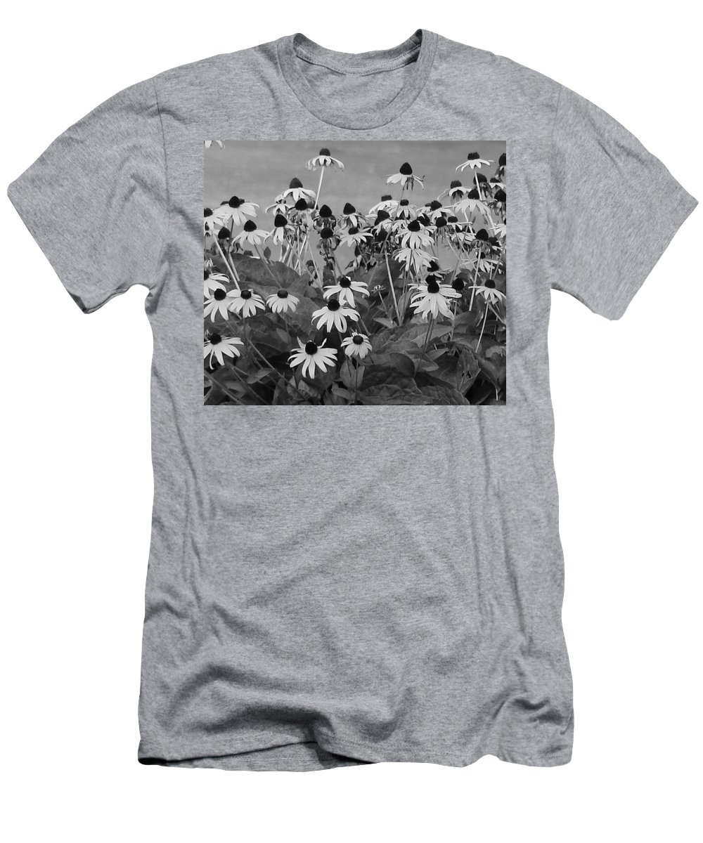 Men's T-Shirt (Athletic Fit) featuring the photograph Black And White Susans by Luciana Seymour