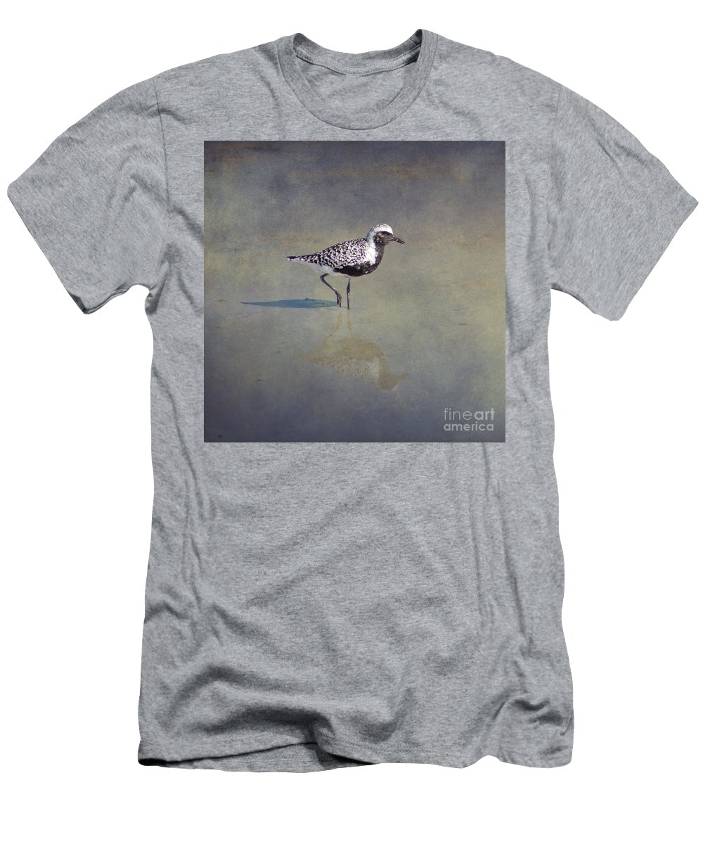 Brown Men's T-Shirt (Athletic Fit) featuring the photograph Black-bellied Plover By Darrell Hutto by J Darrell Hutto