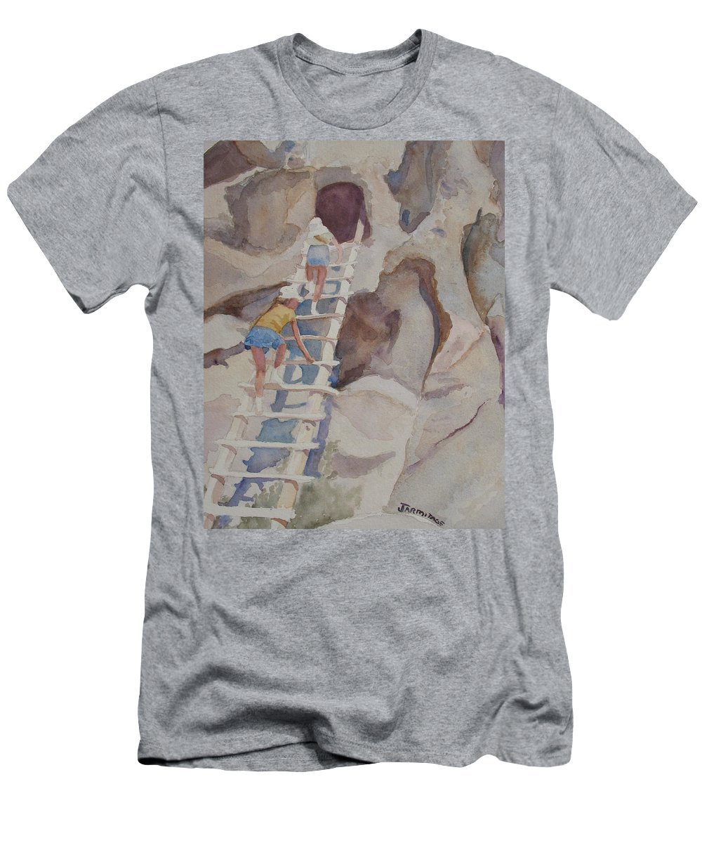 Ladder Men's T-Shirt (Athletic Fit) featuring the sculpture Blond Indians by Jenny Armitage
