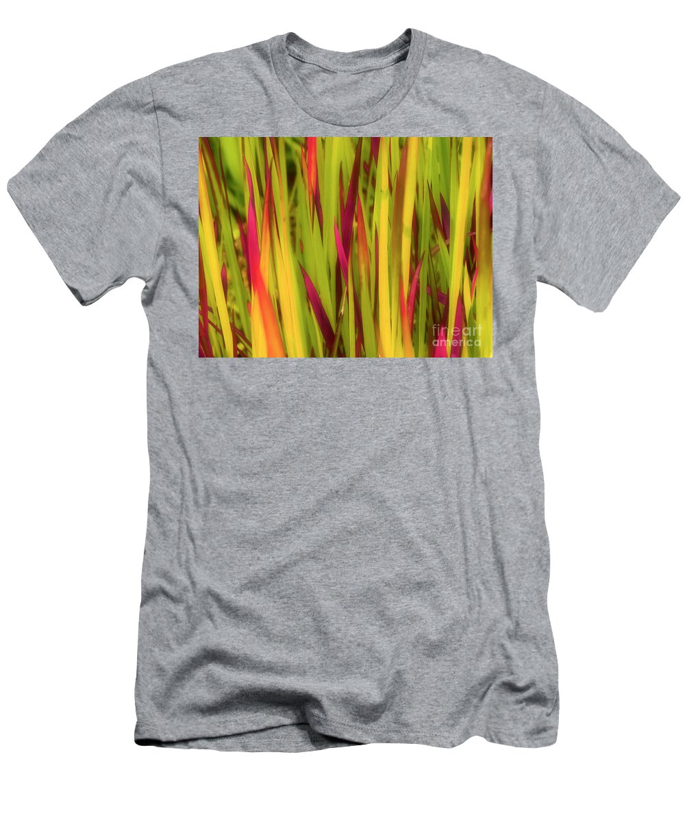 Grass Men's T-Shirt (Athletic Fit) featuring the photograph Blood Grass by Tara Turner