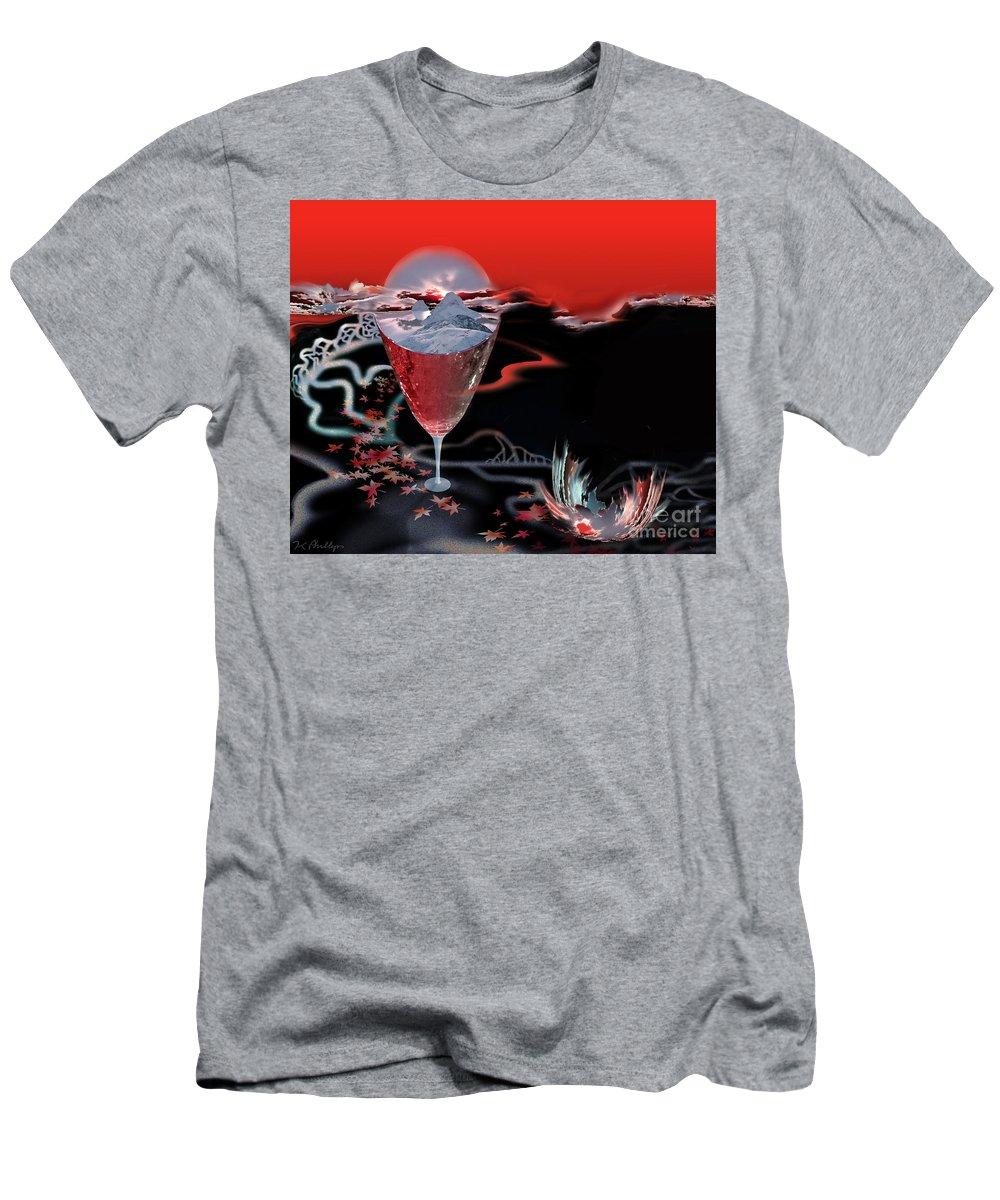 Blood Men's T-Shirt (Athletic Fit) featuring the digital art Blood Red From Pure White by Jennifer Kathleen Phillips