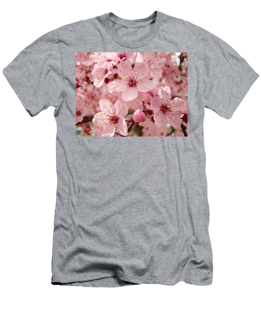 Nature Men's T-Shirt (Athletic Fit) featuring the photograph Blossoms Art Prints 63 Pink Blossoms Spring Tree Blossoms by Baslee Troutman