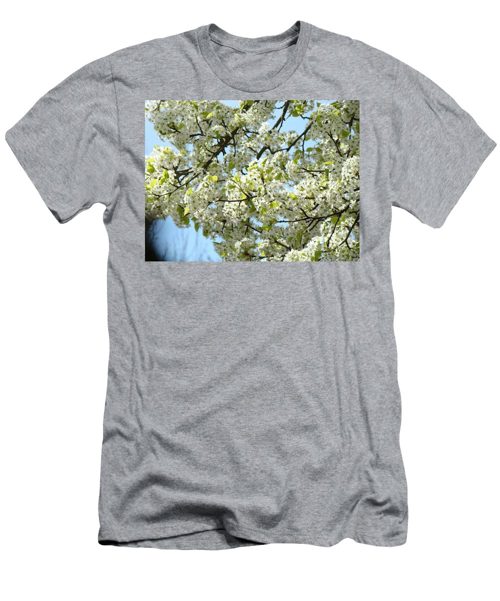 �blossoms Artwork� Men's T-Shirt (Athletic Fit) featuring the photograph Blossoms Whtie Tree Blossoms 29 Nature Art Prints Spring Art by Baslee Troutman