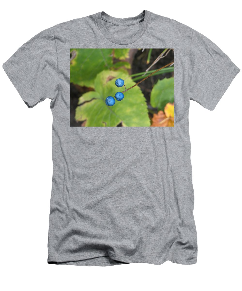 Blue Men's T-Shirt (Athletic Fit) featuring the photograph Blue Berries by Kelly Mezzapelle