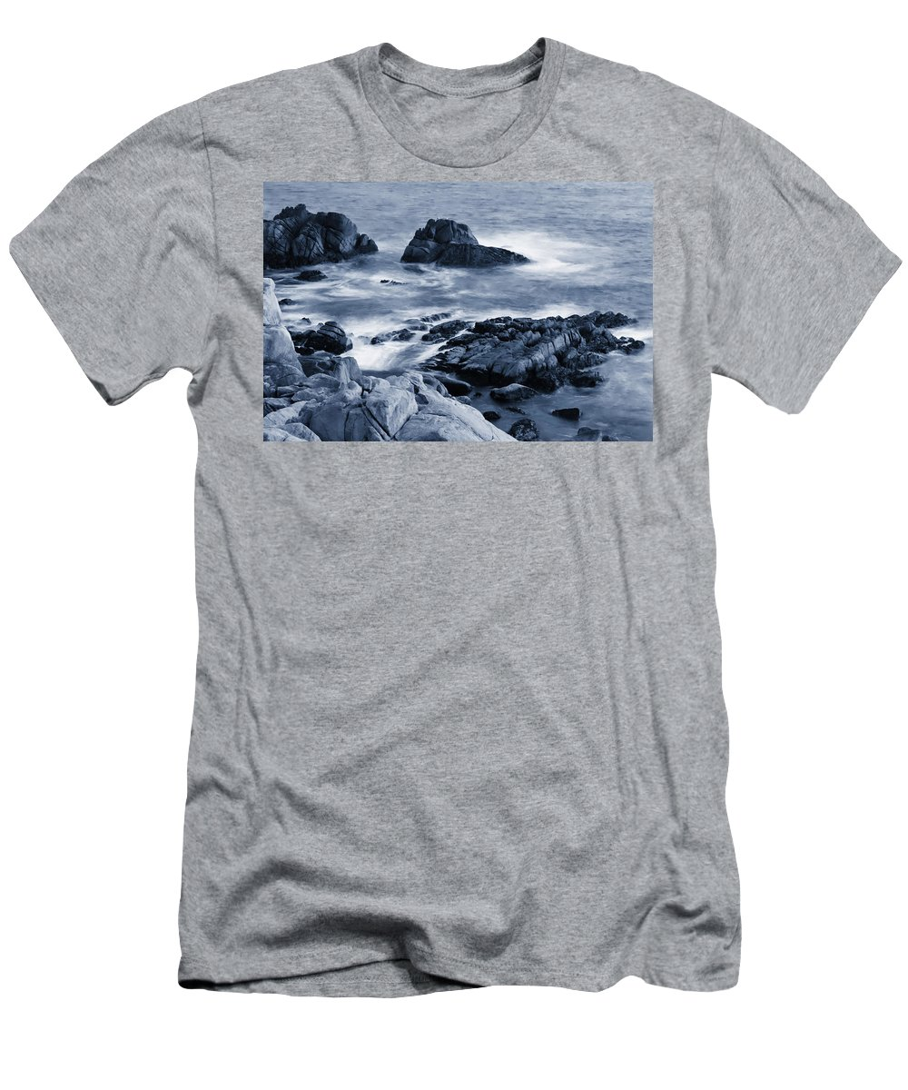 Carmel Men's T-Shirt (Athletic Fit) featuring the photograph Blue Carmel by Renee Hong
