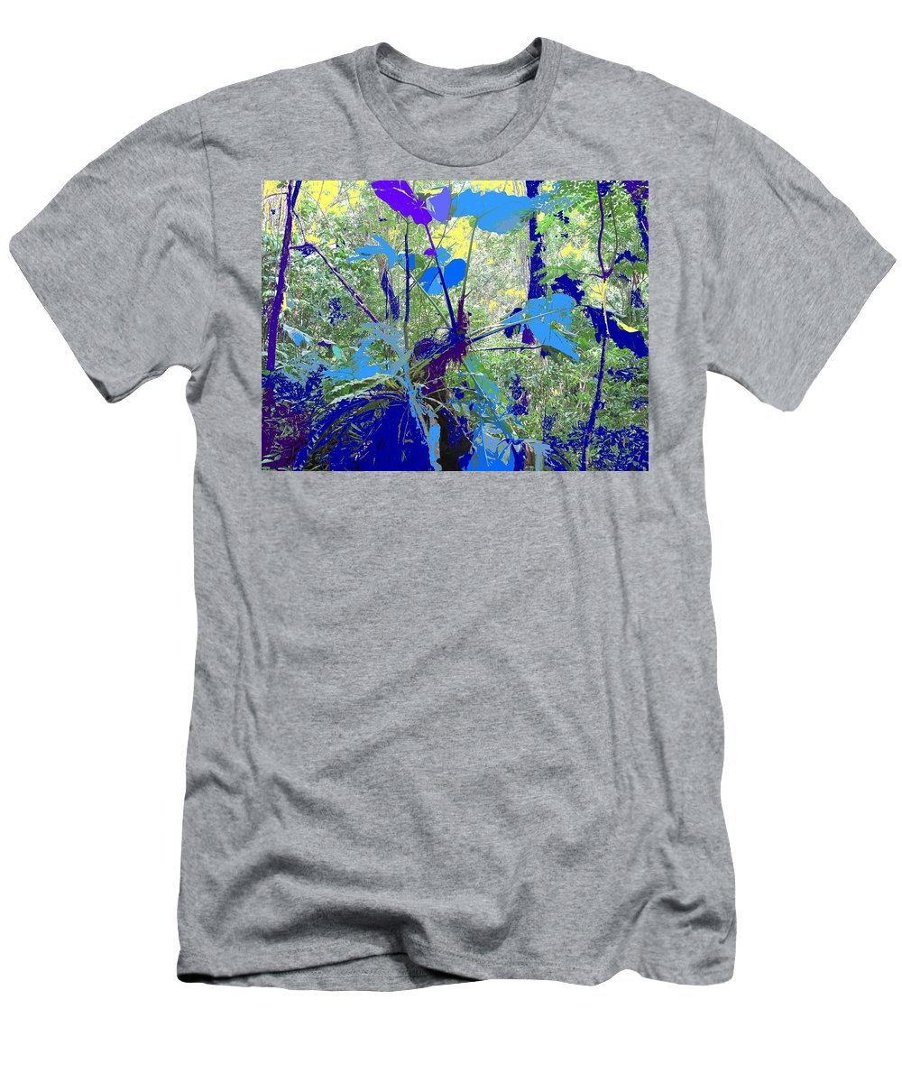 Men's T-Shirt (Athletic Fit) featuring the photograph Blue Jungle by Ian MacDonald