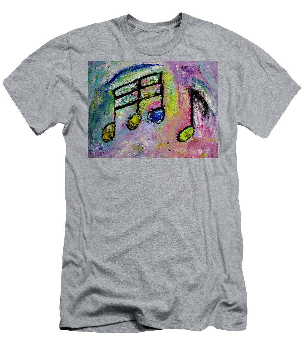Impressionist Men's T-Shirt (Athletic Fit) featuring the painting Blue Note by Anita Burgermeister
