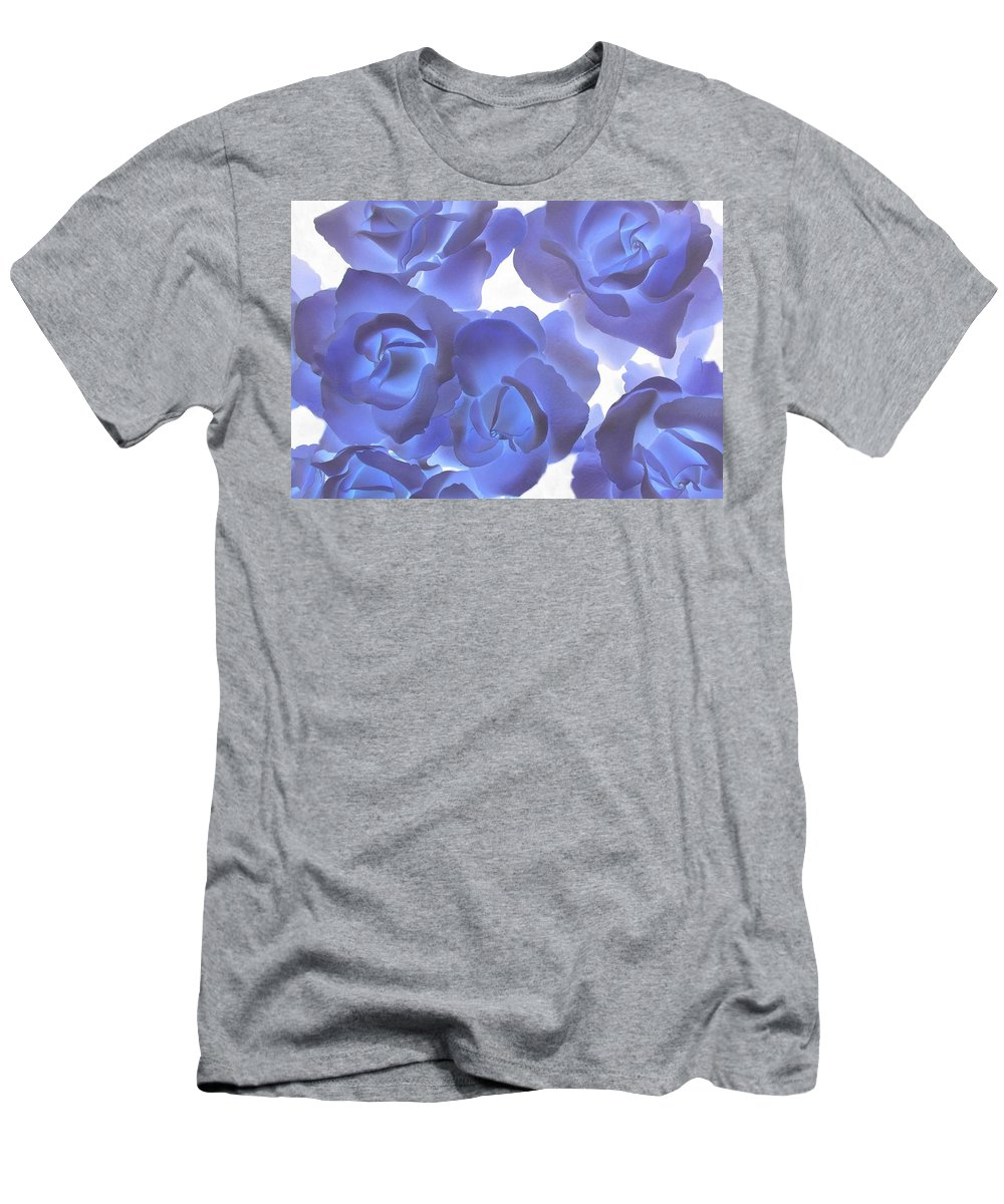 Blue Men's T-Shirt (Athletic Fit) featuring the photograph Blue Roses by Tom Reynen