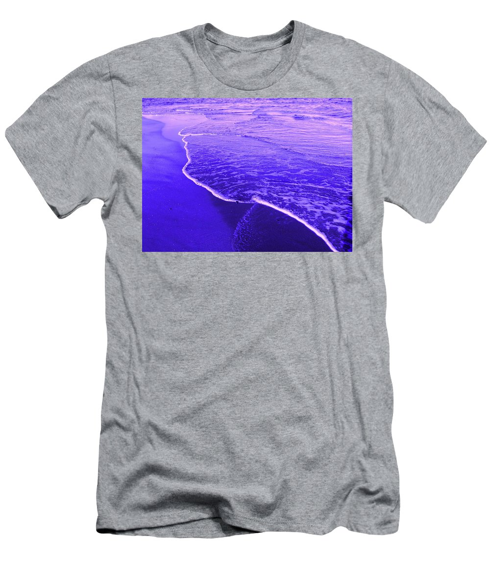 Abstract Men's T-Shirt (Athletic Fit) featuring the digital art Blue Wash by Ian MacDonald
