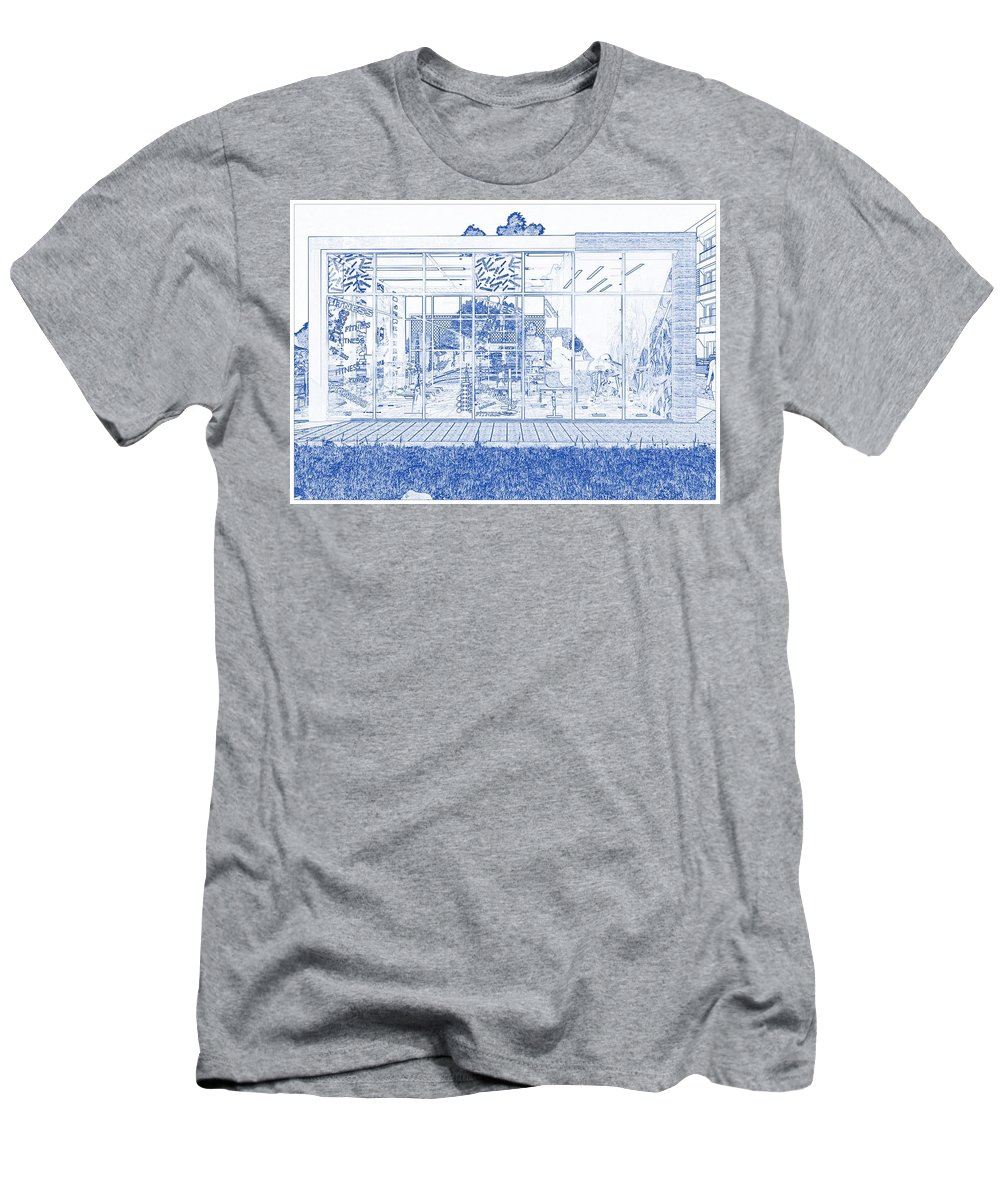 Blueprint Drawing Of Modern Apartment Complex No 9.. Men\'s T-Shirt  (Athletic Fit)