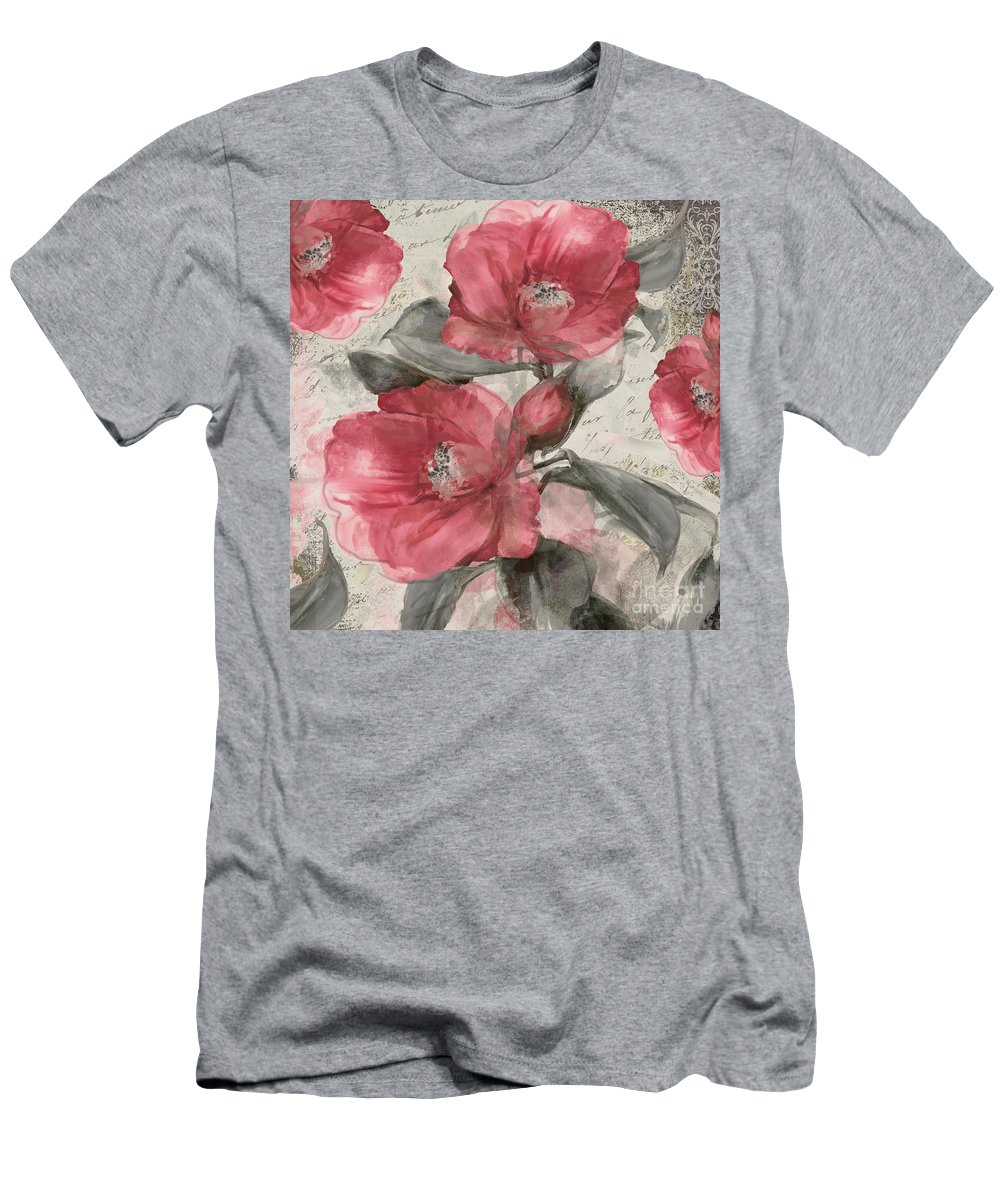 Pink Peony T-Shirt featuring the painting Blush by Mindy Sommers
