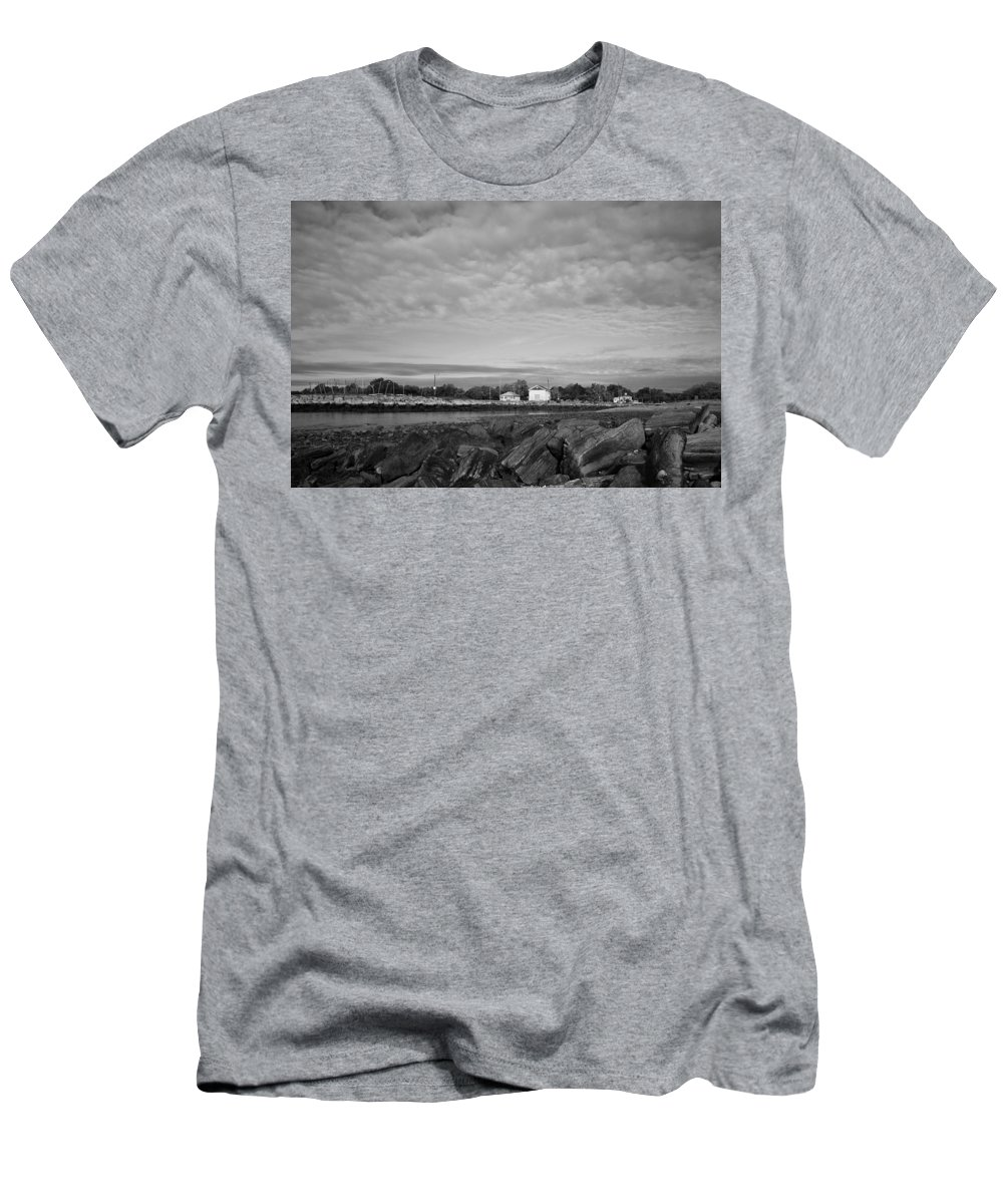 Boat House Men's T-Shirt (Athletic Fit) featuring the photograph Boat Houses by Stephanie McDowell