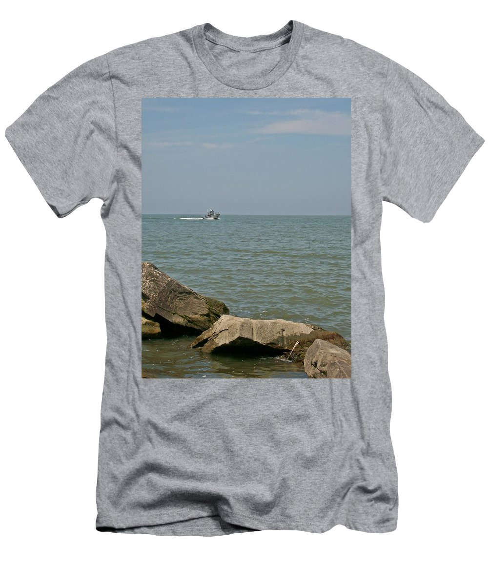 Boat Men's T-Shirt (Athletic Fit) featuring the photograph Boating Fun by Sara Raber