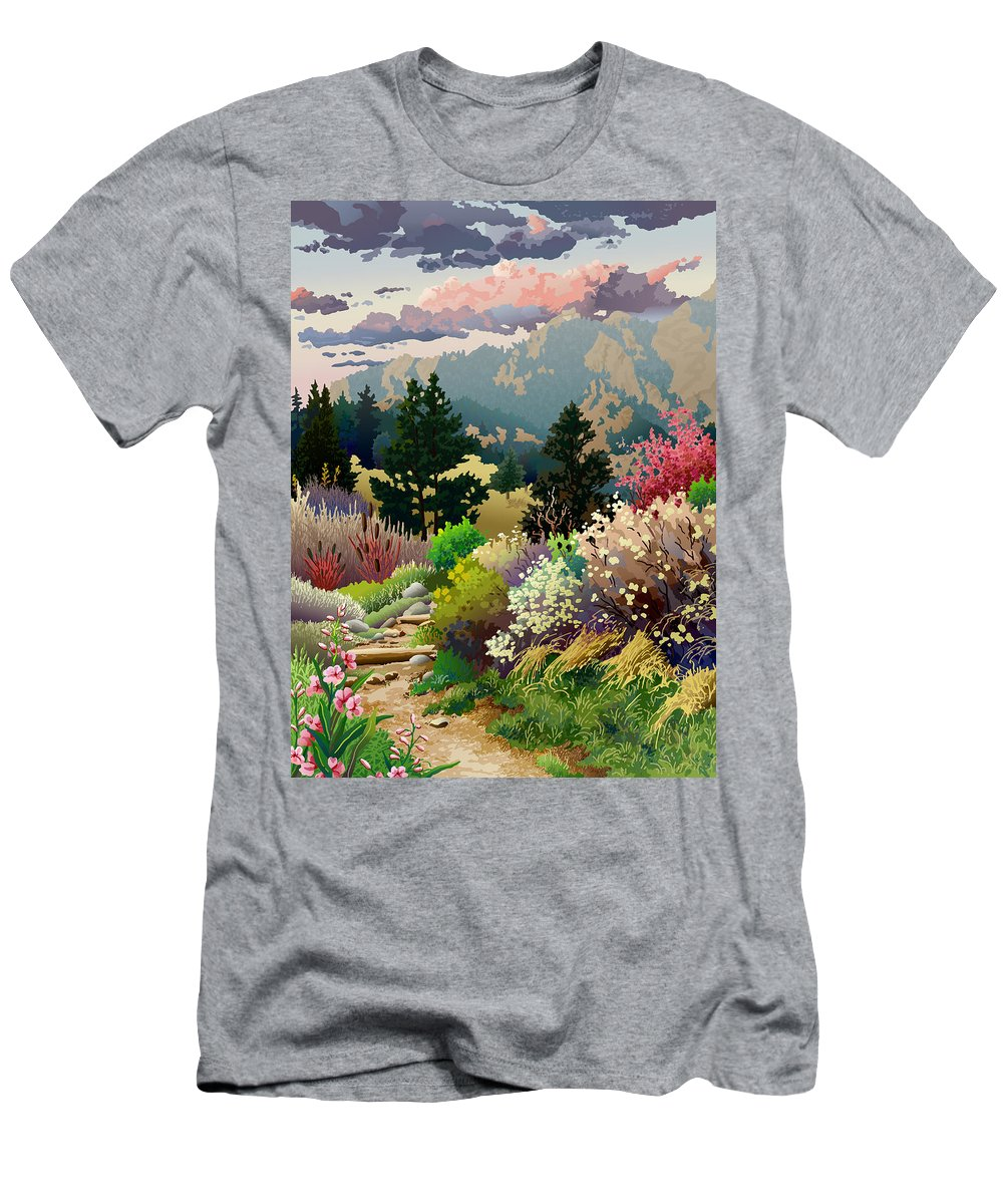 Serigraph T-Shirt featuring the digital art Bolder Boulder 10K Poster 2007 by Anne Gifford
