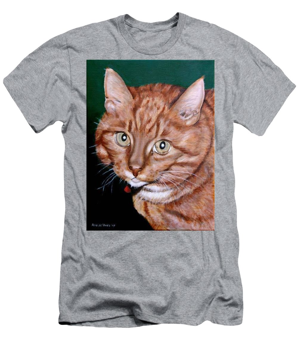 Pets Men's T-Shirt (Athletic Fit) featuring the painting Boris by Rob De Vries